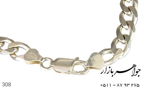 زنجیر نقره ایتالیایی درشت سنگین - عکس 1