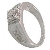 انگشتر نقره طرح حلقه ازدواج مردانه