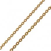 زنجیر نقره آب رودیوم زرد زنانه