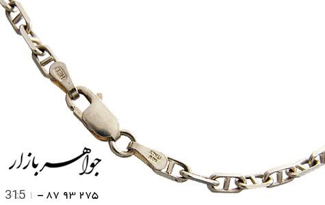 زنجیر نقره ایتالیایی سنگین - عکس 1