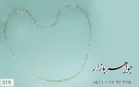 زنجیر نقره ایتالیایی سنگین - عکس 3