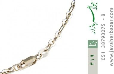 زنجیر نقره ایتالیایی سنگین - کد 319