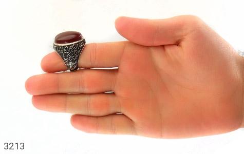 انگشتر عقیق یمن لوکس قلم زنی وان یکاد هنر دست استاد هشتم - عکس 9