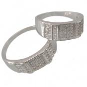 حلقه ازدواج نقره مربعی