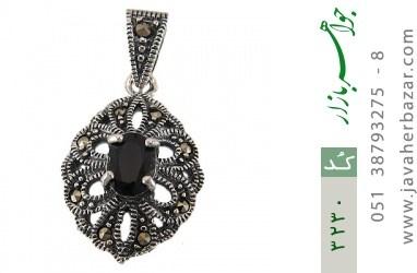 مدال یاقوت کبود طرح خاتون زنانه - کد 3230