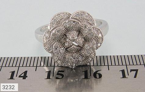 انگشتر نقره میکرو طرح گل - تصویر 4