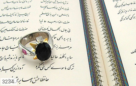 انگشتر یاقوت و زبرجد رکاب دست ساز - عکس 5
