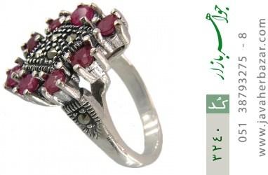 انگشتر یاقوت سرخ طرح رها زنانه - کد 3240