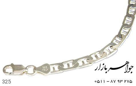 دستبند نقره ایتالیایی سنگین - عکس 1