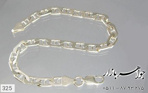 دستبند نقره ایتالیایی سنگین - تصویر 2