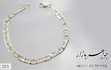 دستبند نقره ایتالیایی سنگین - عکس 3