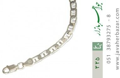 دستبند نقره ایتالیایی سنگین - کد 325