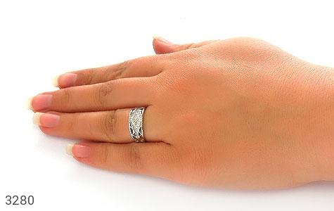 حلقه ازدواج نقره طرح هستی - تصویر 6