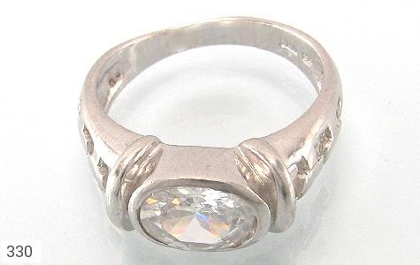 انگشتر نقره طرح الماس نشان - تصویر 2