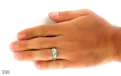 انگشتر نقره طرح الماس نشان - تصویر 6