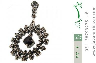 مدال یاقوت کبود طرح آونگ زنانه - کد 3303