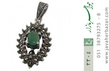 مدال زمرد طرح خجسته زنانه - کد 3304