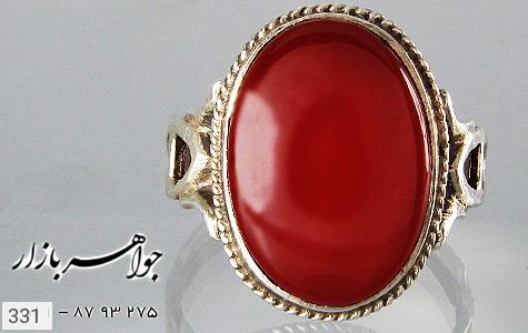 انگشتر عقیق قرمز درشت - عکس 3