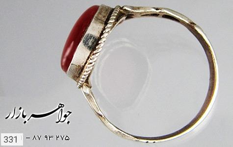 انگشتر عقیق قرمز درشت - تصویر 4