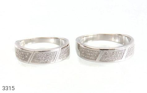 حلقه ازدواج نقره طرح شبنم - عکس 1