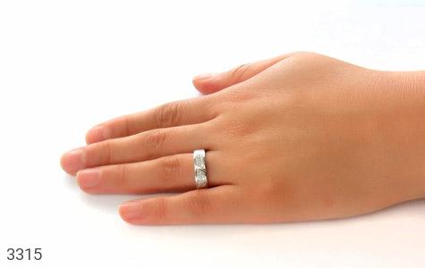 حلقه ازدواج نقره طرح شبنم - تصویر 6