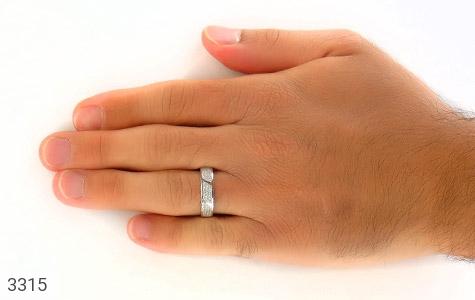 حلقه ازدواج نقره طرح شبنم - عکس 7