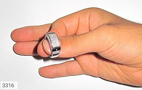 انگشتر نقره طرح رادان مردانه - عکس 5