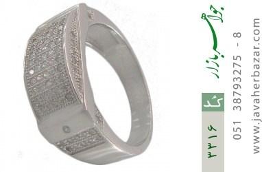 انگشتر نقره طرح رادان مردانه - کد 3316