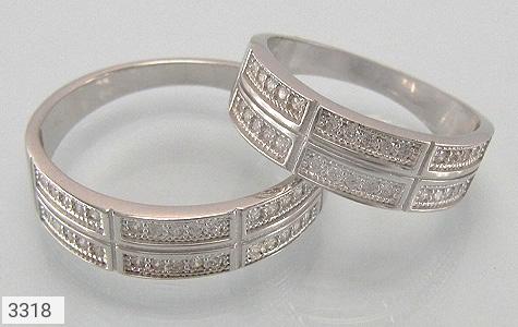 حلقه ازدواج نقره طرح تابان - عکس 1