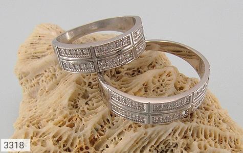 حلقه ازدواج نقره طرح تابان - عکس 5