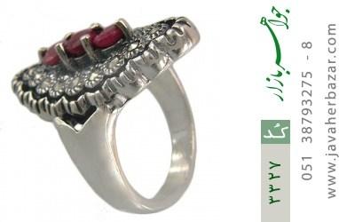 انگشتر یاقوت سرخ نازدخت زنانه - کد 3327