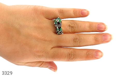 انگشتر زمرد طرح پگاه زنانه - تصویر 6