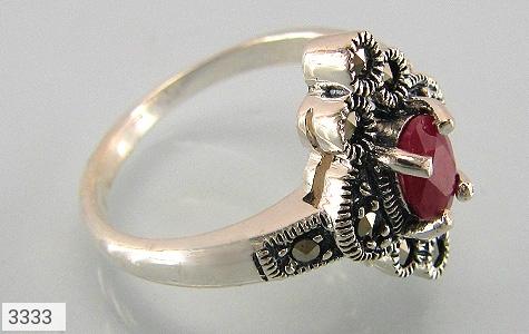 انگشتر یاقوت سرخ طرح خاتون زنانه - عکس 1