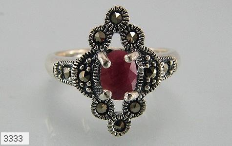 انگشتر یاقوت سرخ طرح خاتون زنانه - عکس 3