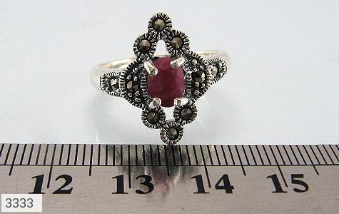 انگشتر یاقوت سرخ طرح خاتون زنانه - تصویر 4