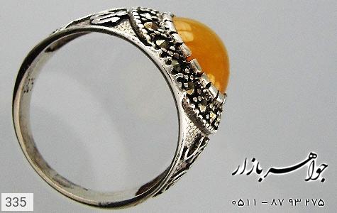 انگشتر عقیق قلم زنی محمد الله - تصویر 2