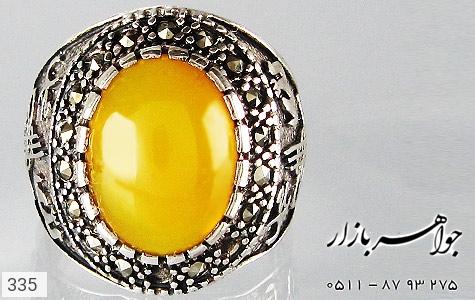 انگشتر عقیق قلم زنی محمد الله - تصویر 4
