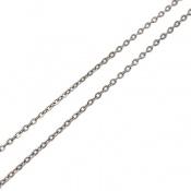 زنجیر نقره ایتالیا حلقه ای 40 سانتی