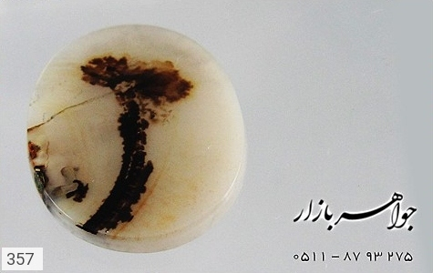 نگین تک عقیق شجر طرح نخل - تصویر 4