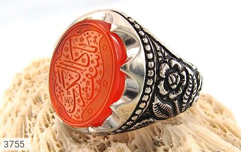 انگشتر عقیق یمن لوکس حکاکی یا کاشف الکرب استاد عبد - عکس 7