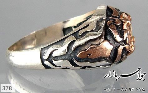 انگشتر نقره سیاه قلم مردانه - عکس 3