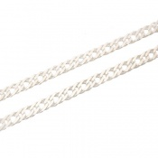 زنجیر نقره درشت طرح بافت 50 سانتی مردانه