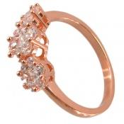 انگشتر نقره طرح الماس درشت زنانه