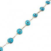 دستبند نقره چشم زخم آبی رنگ زنانه