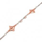 دستبند نقره طرح مجلسی زنانه