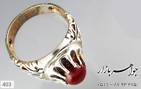انگشتر عقیق مردانه - تصویر 2