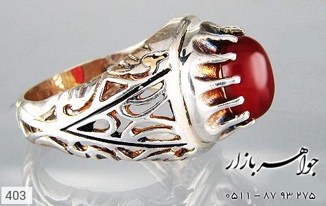 انگشتر عقیق مردانه - تصویر 4