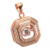مدال نقره 8 ضلعی زنانه