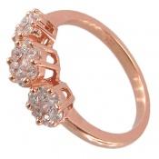 انگشتر نقره فلاور طرح الماس زنانه