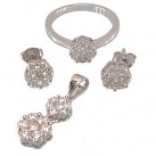 سرویس نقره فلاور طرح الماس زنانه